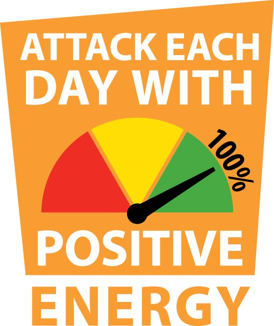 Attack Each Day With Positive Energy logo