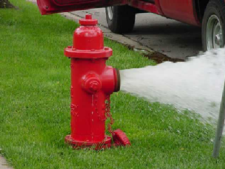 Fire Hydrant with Water